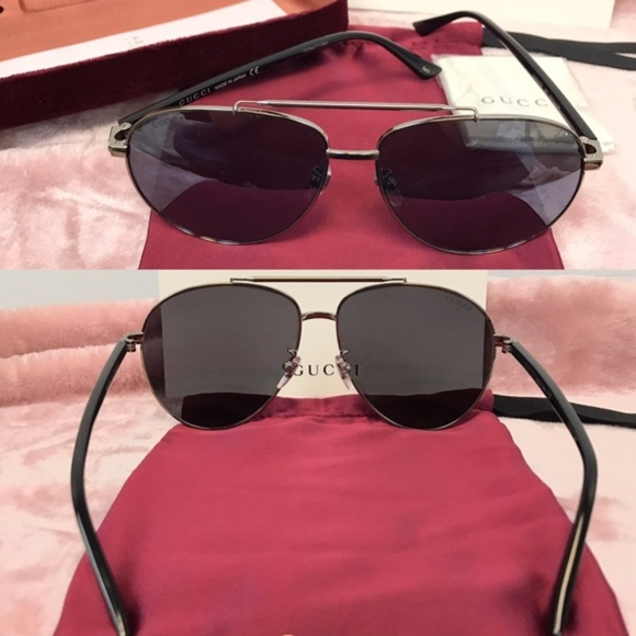 Authentic Gucci 61mm Oversized Aviators NWT